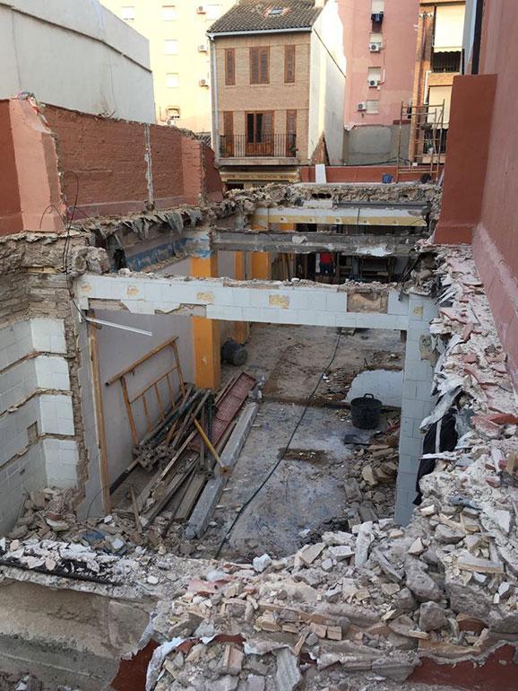 Demolicion vivienda existente